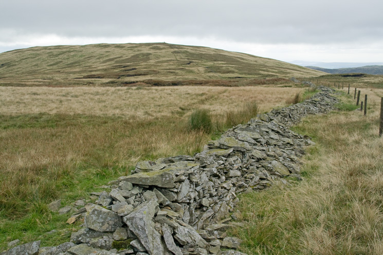 Looking back to the cairn