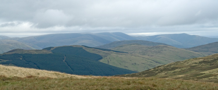 Looking over the Whinfell ridge to the Howgill Fells from White Howe's summit