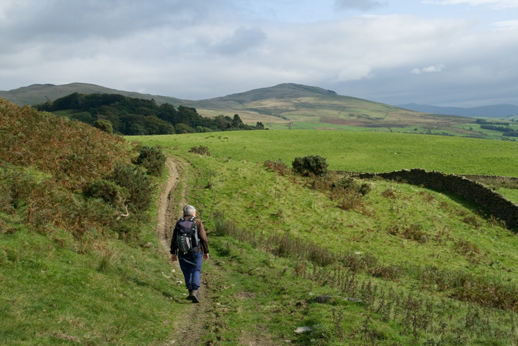 Castle Fell and Whinfell Beacon as we head for Thorn Cottage