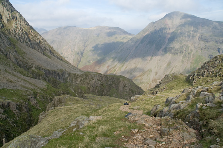 Kirk Fell and Great Gable from the path by Piers Gill