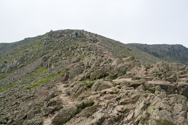 The route to Scafell Pike's summit from Broad Crag col