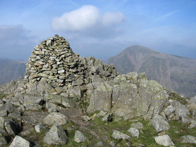 Lingmell's summit cairn