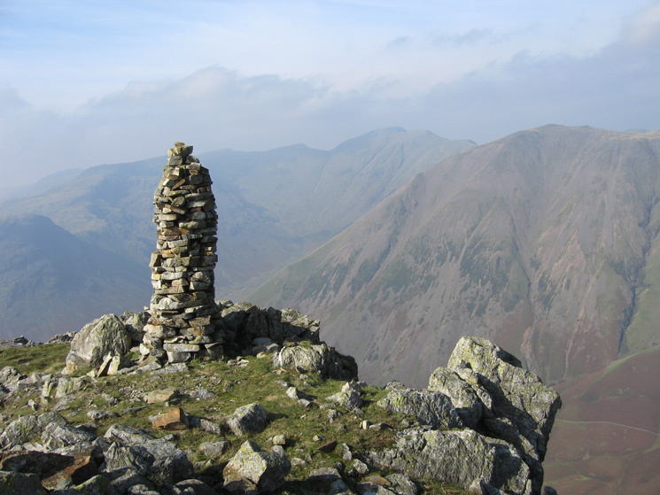 Pillar and Kirk Fell from the cairn north of Lingmell's summit