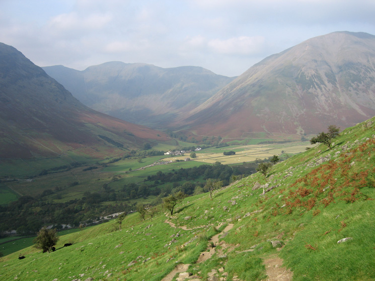 The path back down to Wasdale Head