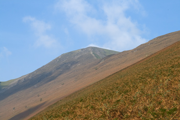 Looking up at Grisedale Pike