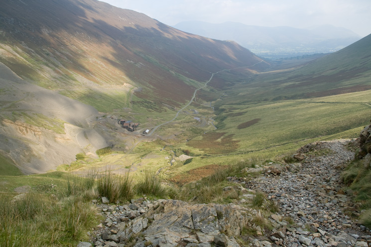 Looking back down into Coledale