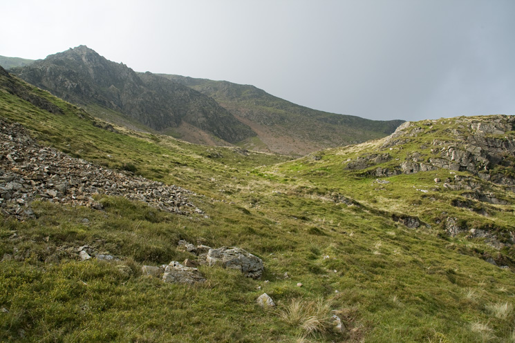 'Tower Ridge' up to the left