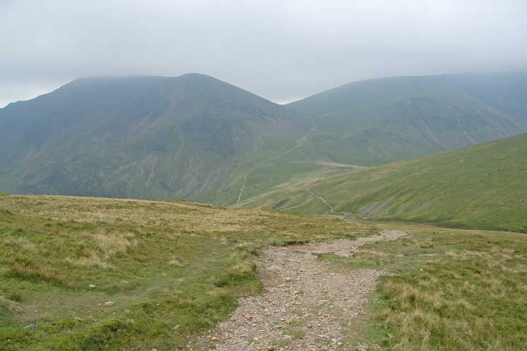 Looking back towards Eel Crag and Grasmoor as we head for Grisedale Pike