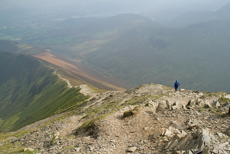 The descent off Grisedale Pike to Sleet How
