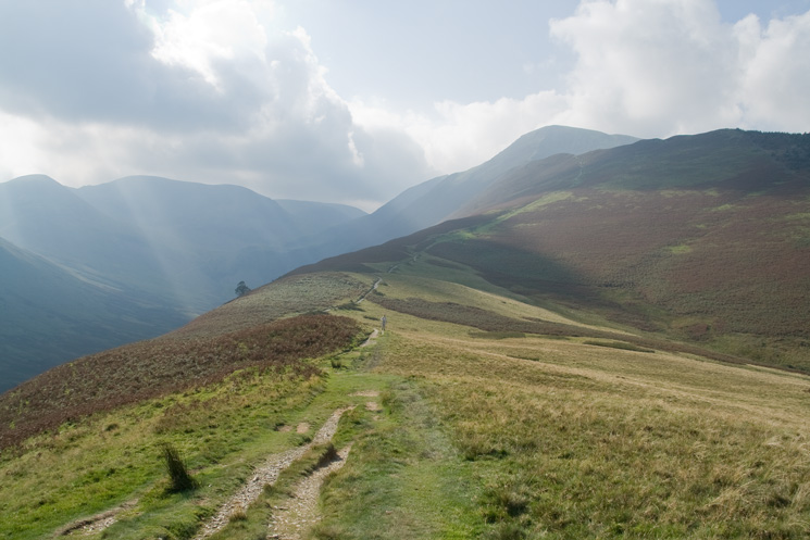 Looking back up to Grisedale Pike from Kinn