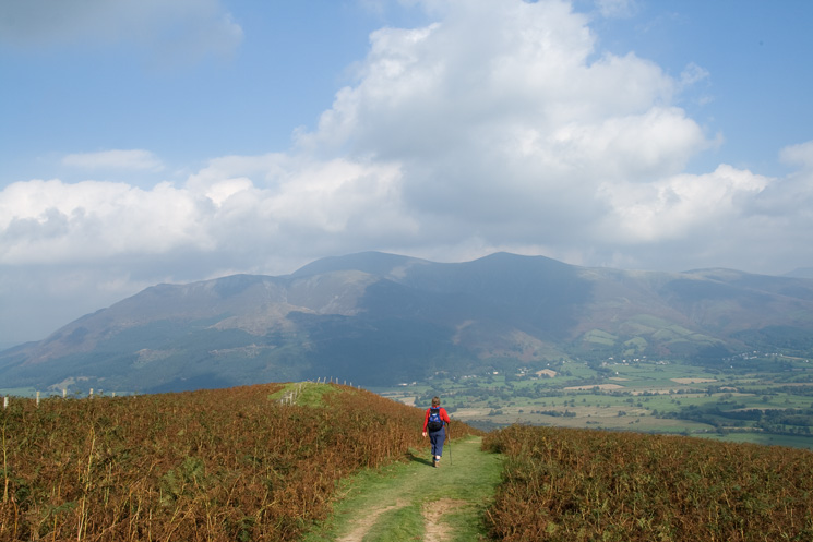The Skiddaw fells from Kinn