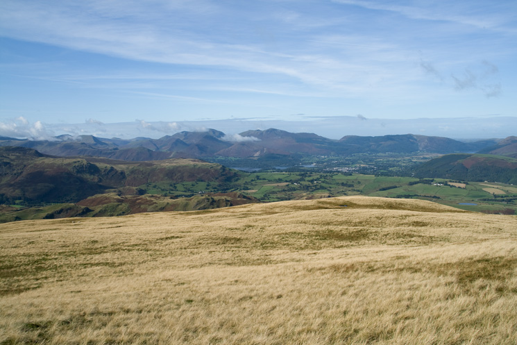 The north western fells from Clough Head
