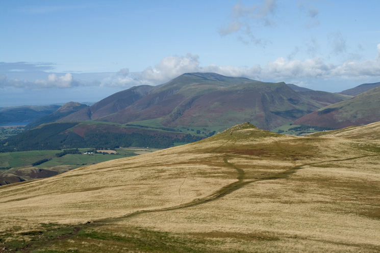 Calfhow Pike with the Skiddaw fells behind