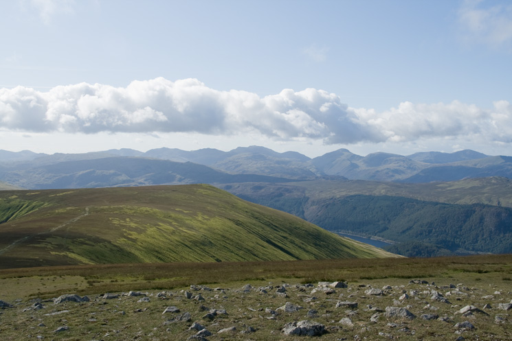 Watson's Dodd and the high Lakeland fells from Great Dodd