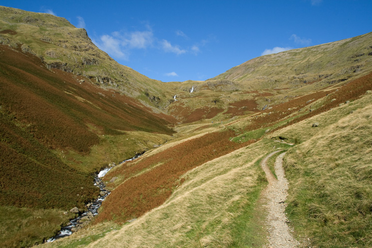 Looking back up Tongue Gill to Grisedale Hause