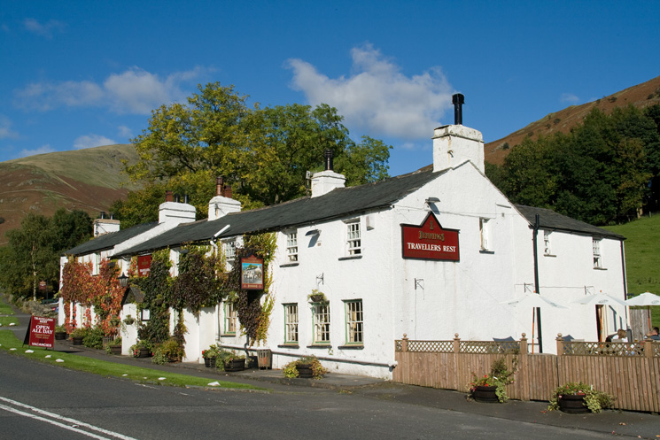 Travellers Rest on the A591 outside of Grasmere