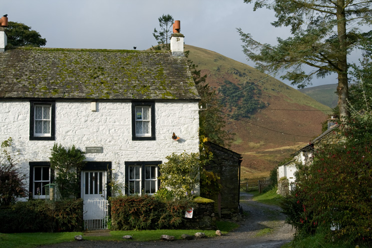 Bannerdale View cottage in Mungrisdale with The Tongue behind