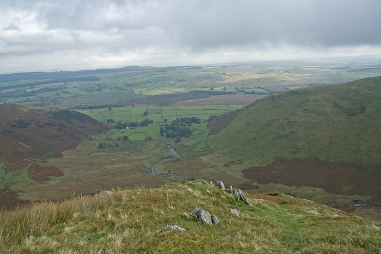 The view east from the top of the steep climb on to The Tongue