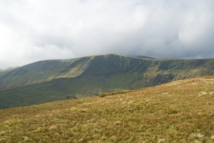 Bannerdale Crags, the east ridge, my descent route, really stands out