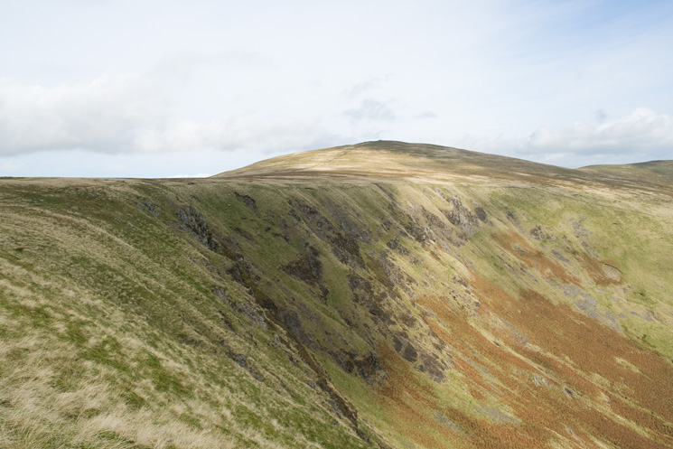Looking back to Bowscale Fell from my route to Bannerdale Crags