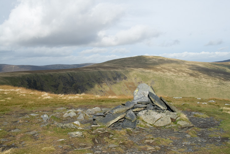 Bowscale Fell from the east cairn on 'the edge' of Bannerdale Crags