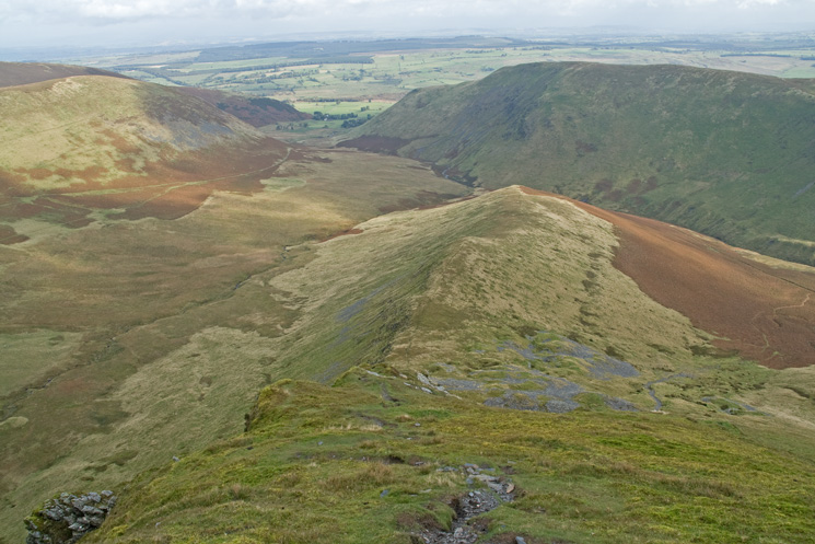 Bannerdale Crags east ridge from above
