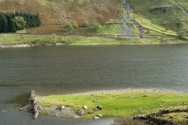 Looking across Haweswater to Woodfell Gill