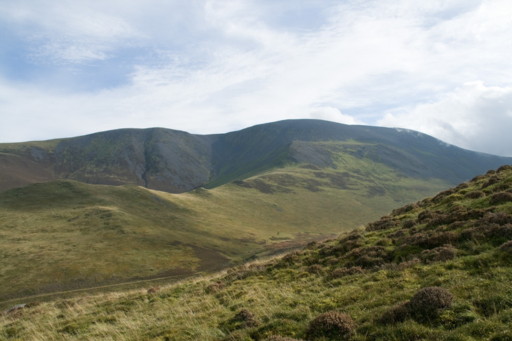 Looking across to Skiddaw's north west ridge