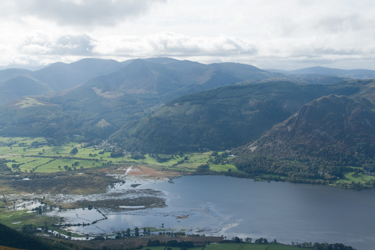 The head of Bassenthwaite Lake and the north western fells from Ullock Pike