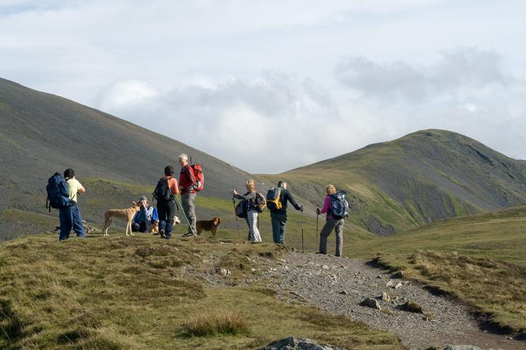 A re-group at Long Side's summit