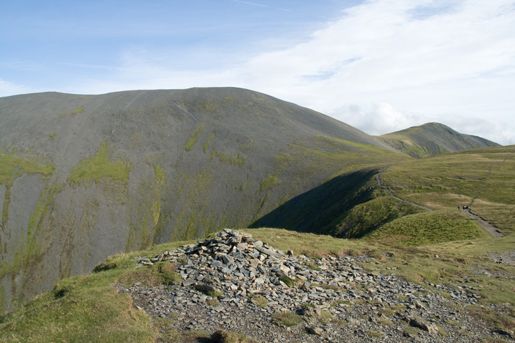The bulk of Skiddaw from Long Side's summit