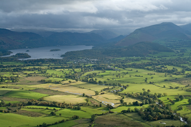 The Vale of Keswick catches some sun