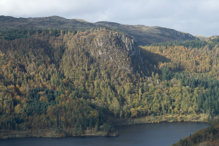 Raven Crag on the other side of Thirlmere