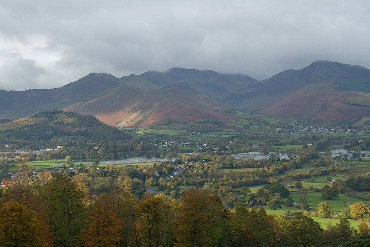The north western fells from our ascent of Latrigg