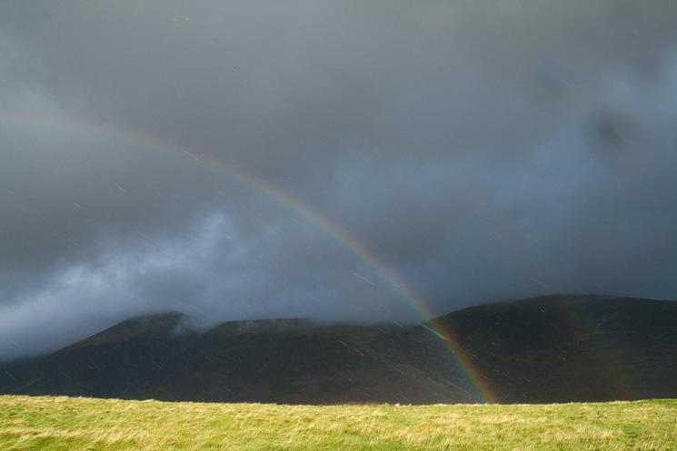 Latrigg summit rainbow