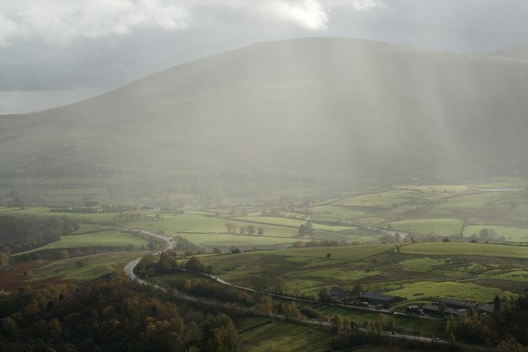 The rain heads for Clough Head