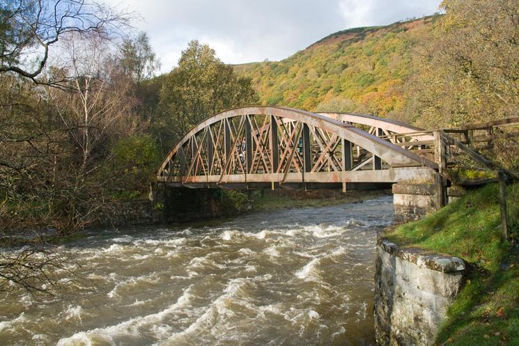 One of the  many old railway bridges across the River Greta