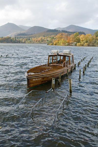 After we finished our walk we headed to the Keswick Landing Stages to see how high Derwent Water was.