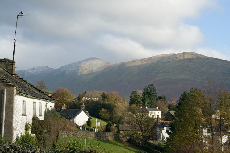 The Ill Bell ridge from Troutbeck