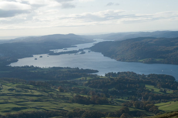 Windermere from our ascent of Wansfell Pike