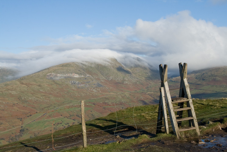 Red Screes from Wansfell Pike's summit