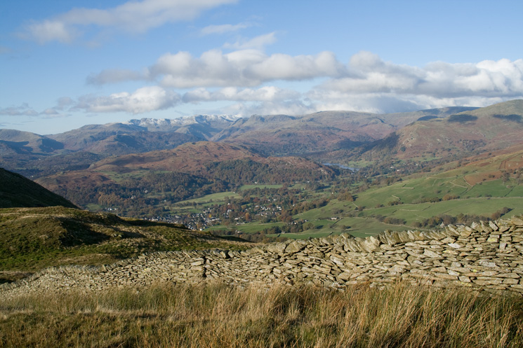 The view west with Loughrigg Fell and Ambleside centre photo