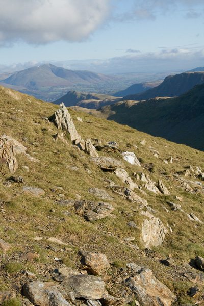 Blencathra in the distance from our descent off Robinson