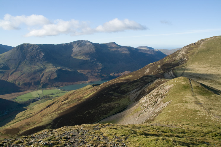 The High Stile ridge above Buttermere from Littledale Edge