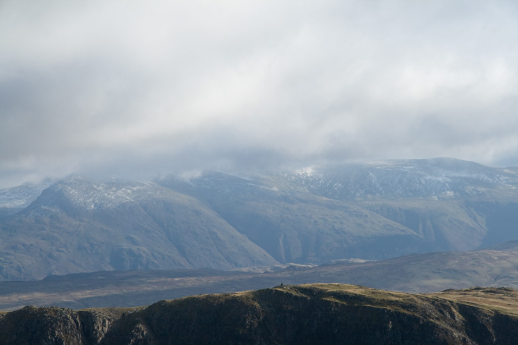 Looking over High Spy, Helvellyn looks like it is getting some weather!