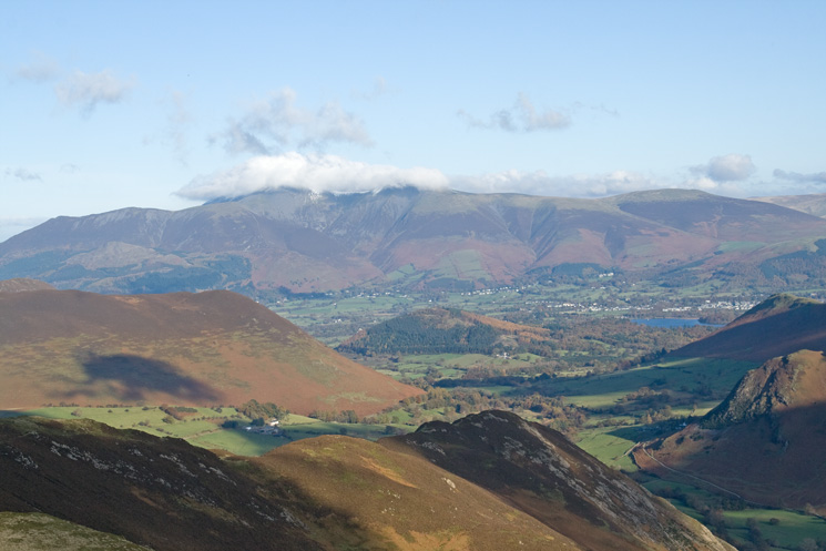 Skiddaw as we head for Scope End