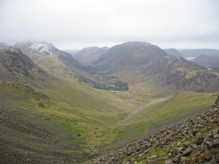 Ennerdale from the ascent of Green Gable from Windy Gap