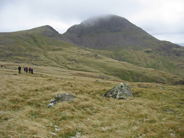 Green Gable and Great Gable from Moses' Trod