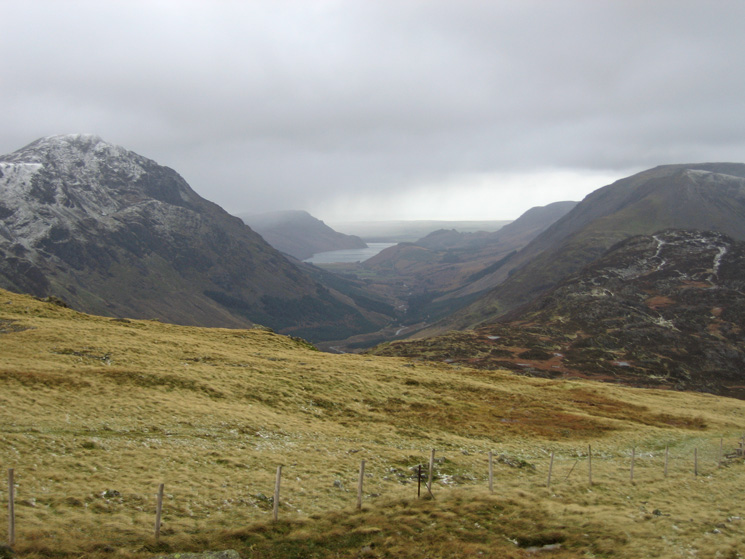 Ennerdale with Pillar on the left and Haystacks near right