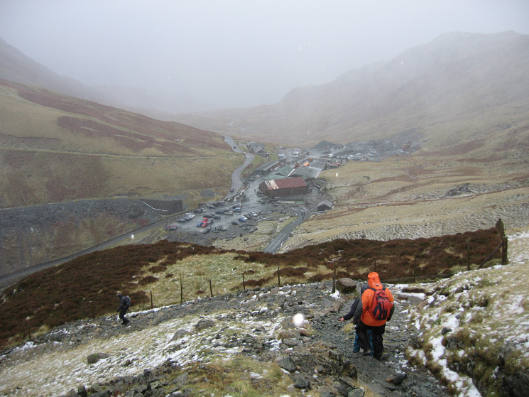Approaching Honister Hause